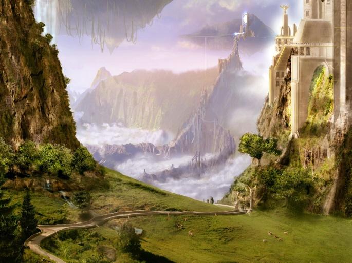 Фантастические пейзажи (77 обоев)