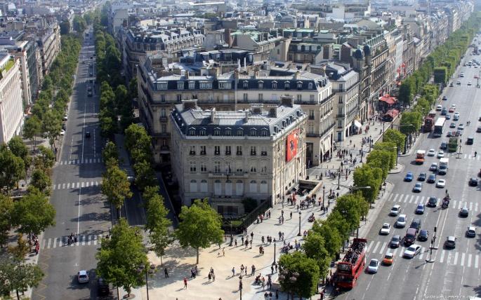 Париж (130 обоев)