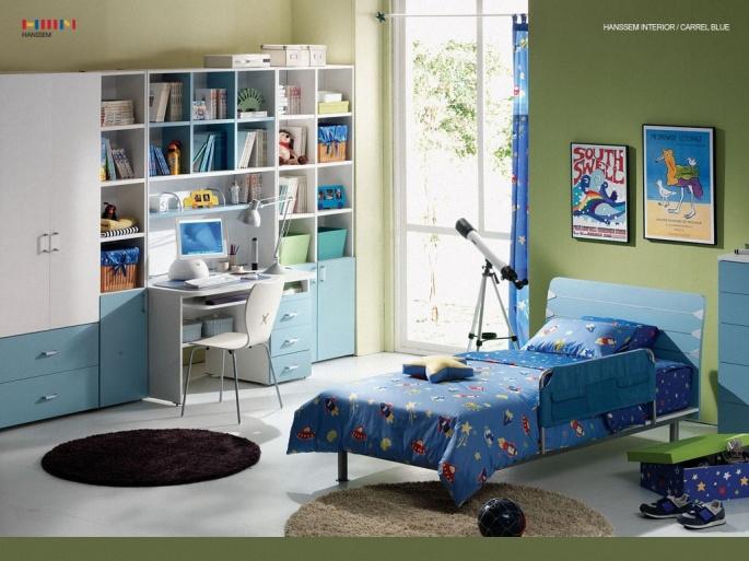 Дизайн детских комнат (70 обоев)