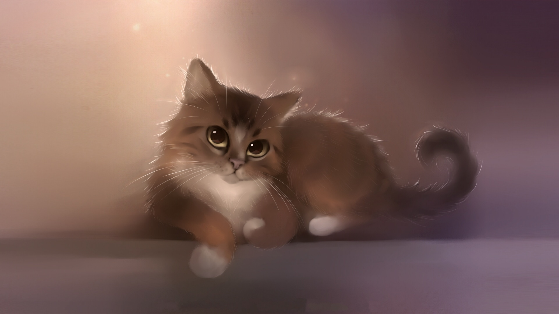нарисованная кошка обои на рабочий стол № 1412729 без смс