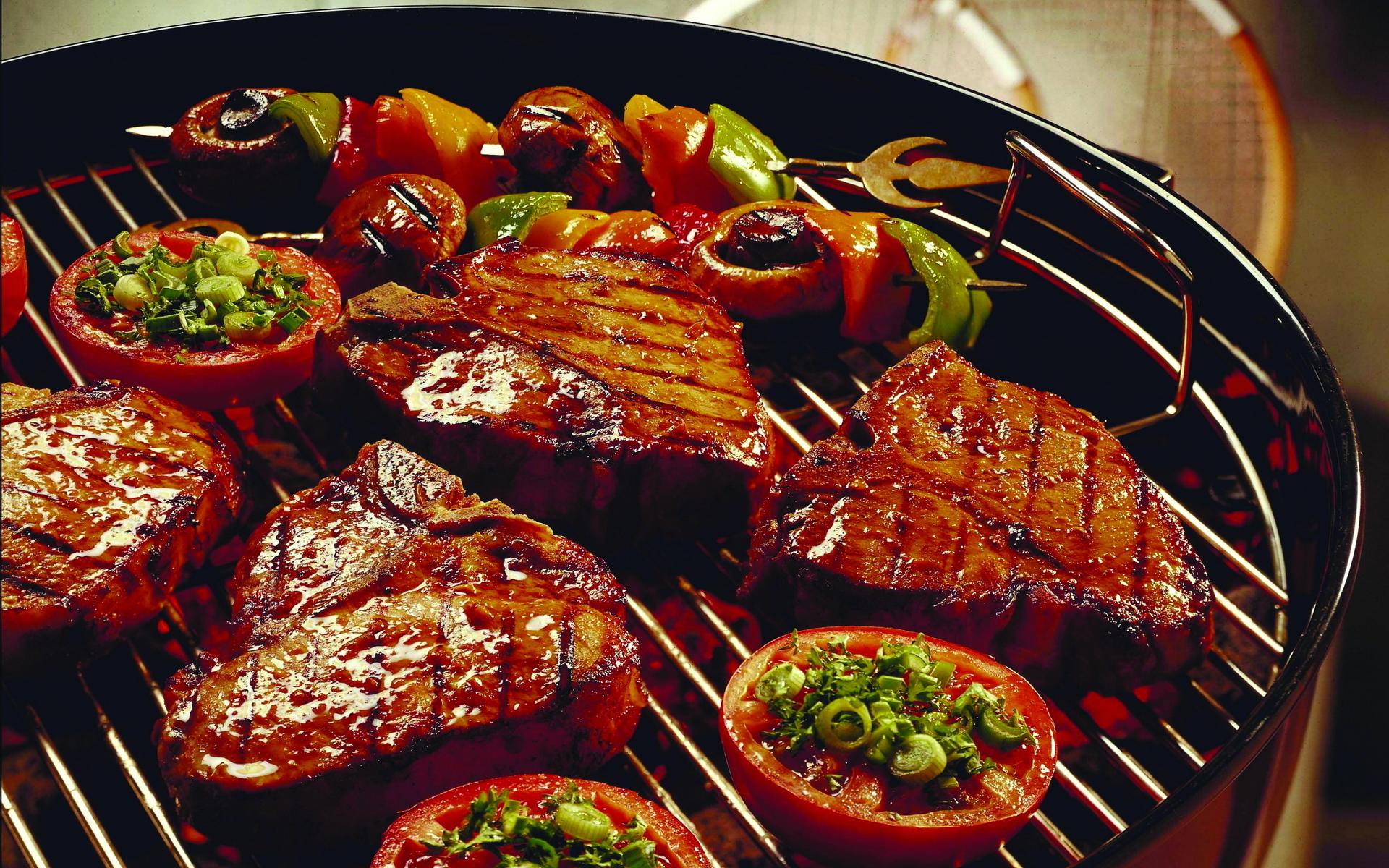 Мясные блюда на гриле рецепты