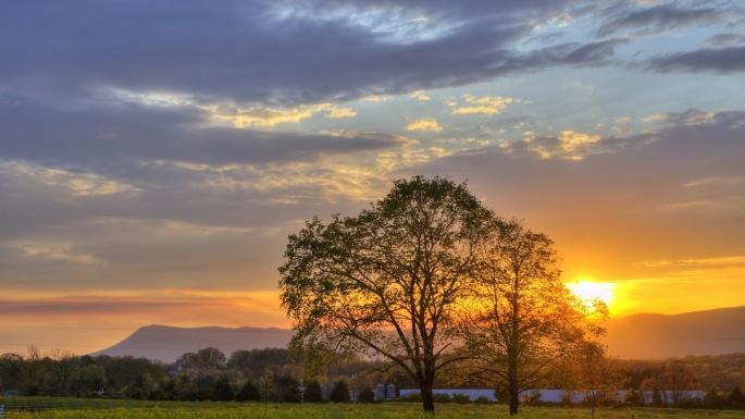 Фото на закате солнца (50 обоев)