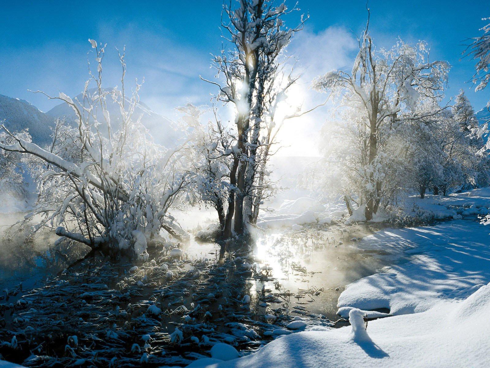 Зимние обои 133 обоев