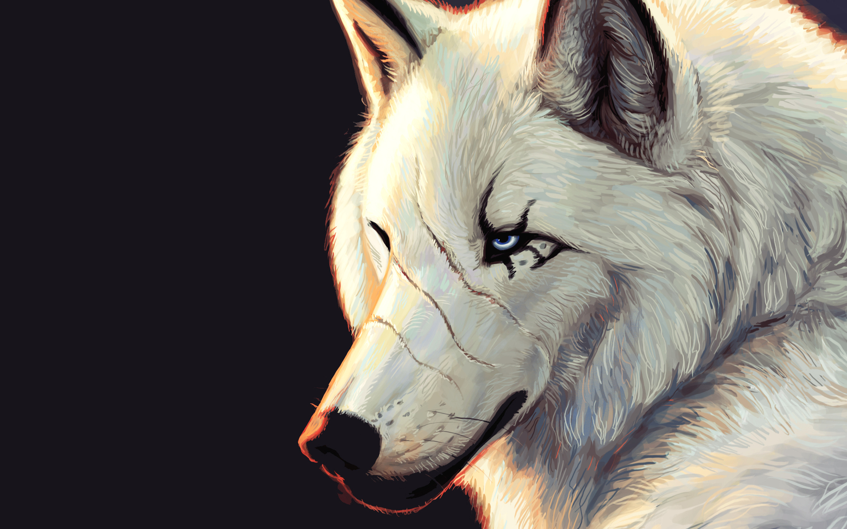 Обои на рабочий стол волки нарисованная