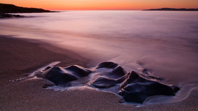 Моря, океаны. Фиолетовые сны (50 обоев)