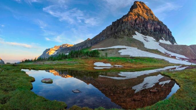 Природа. Горы. Давай не видеть мелкого в зеркальном отражении (50 обоев)