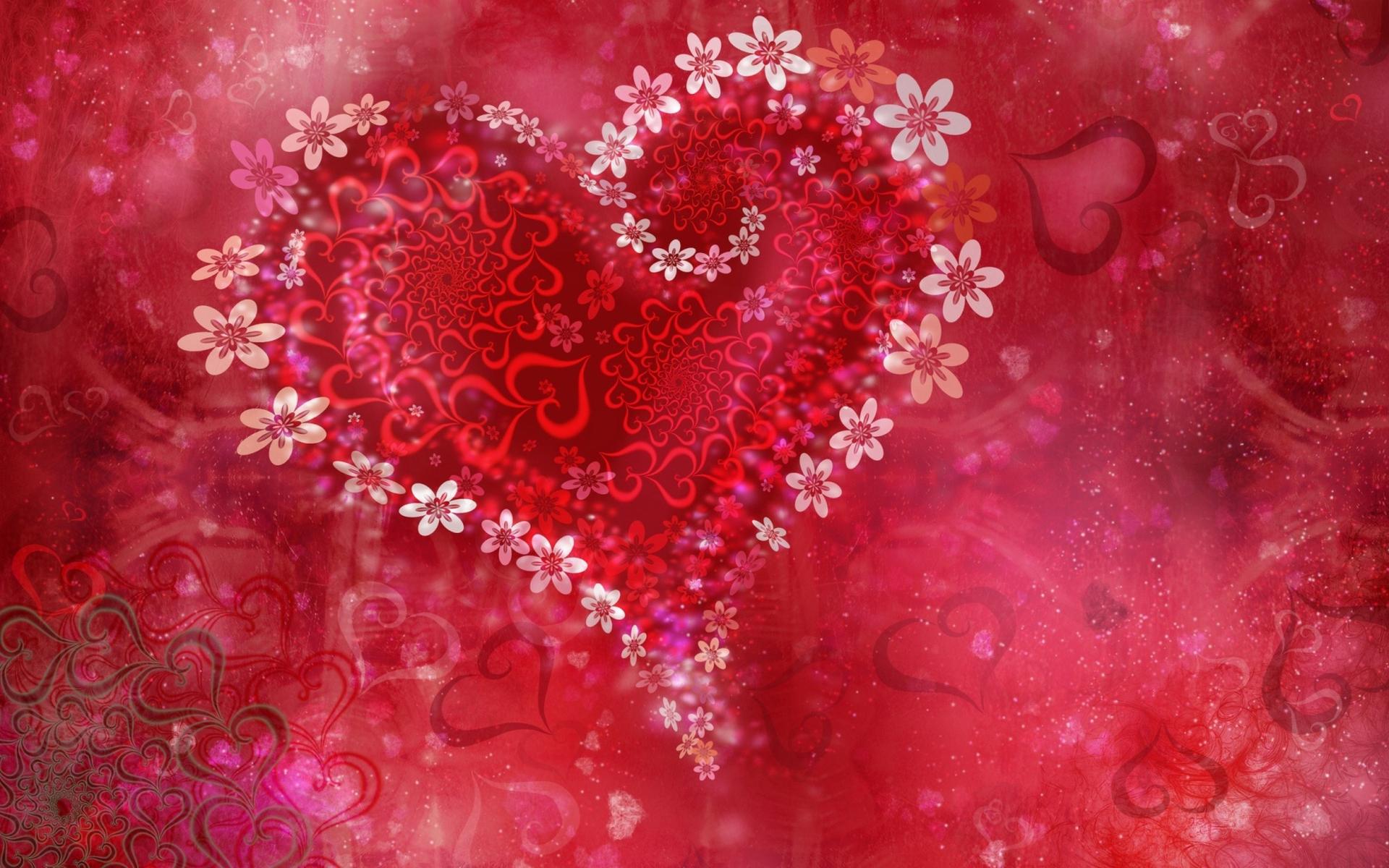 Обои на рабочий стол любовь цветы