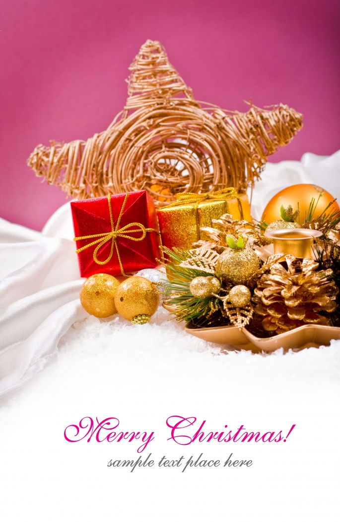 Рождественские игрушки (7 обоев)
