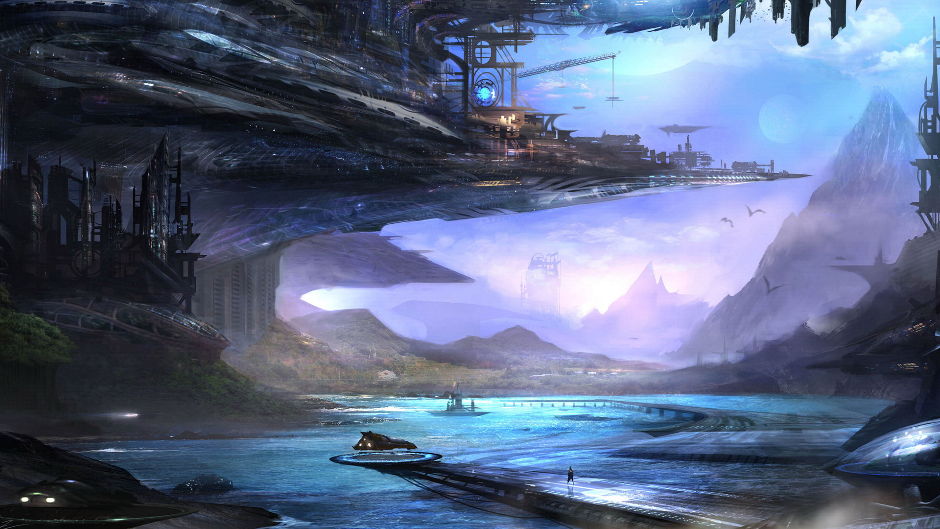 обои пейзажи фантастика на рабочий стол № 54950  скачать