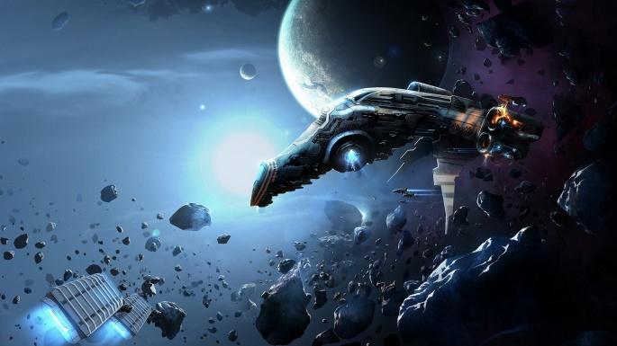Космос. 50 графических шедевров на тему космической фантастики (50 обоев)