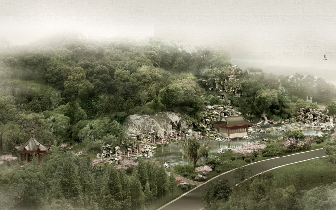 Китай в фотошопе (92 обоев)