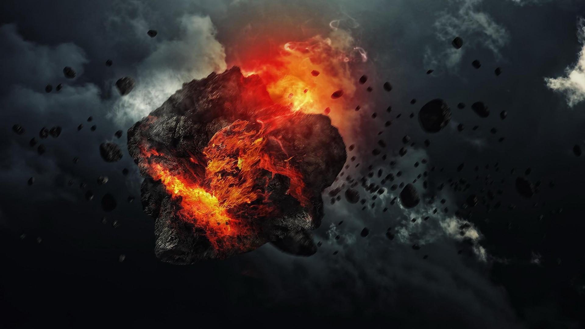 обои для рабочего стола космос метеориты № 610664  скачать