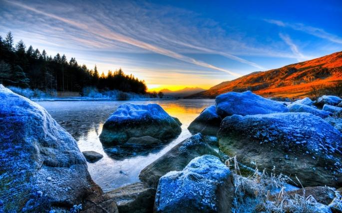Красивые солнечные закаты (81 обоев)