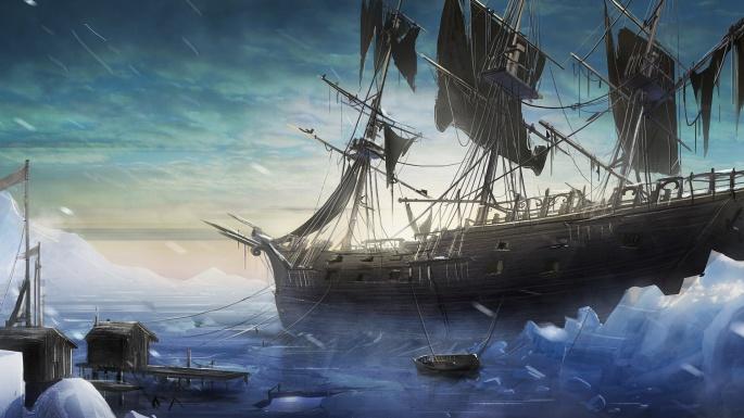 Графика, живопись. Корабли лавировали, да не вылавировали (55 обоев)