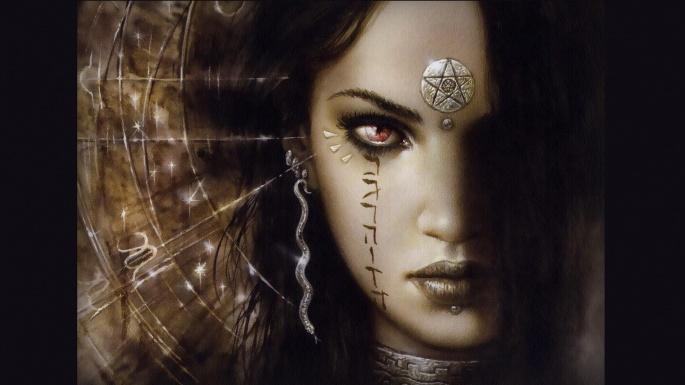Графика, живопись. Женщины-вамп Луиса Ройо (50 обоев)