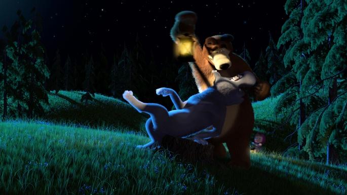 Мультипликация. Маша и медведь (50 обоев)