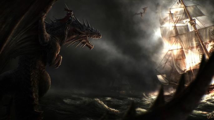 Фэнтези. Как приручить дракона (50 обоев)