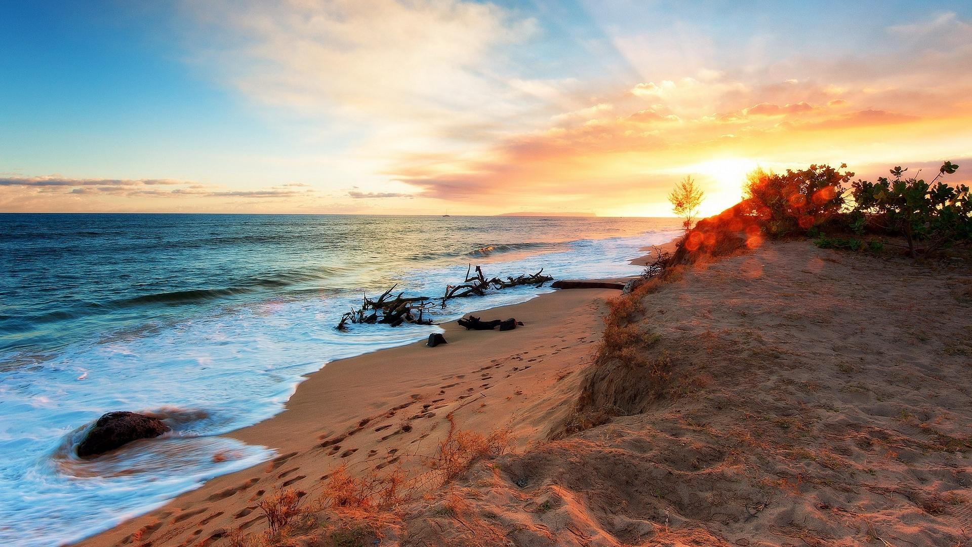 обои для рабочего стола берег пляжи № 598766 бесплатно