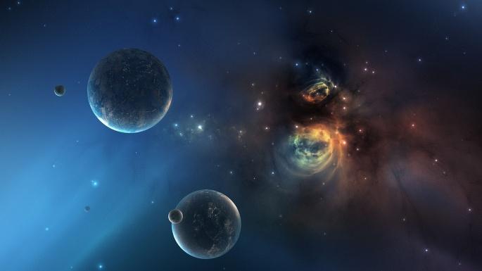 Космос. Голубая бездна (50 обоев)