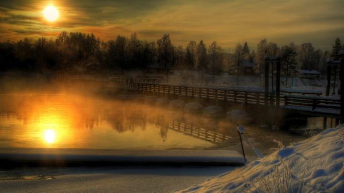 Природа. 50 чудесных фотокартин на тему Времена года. Зима (50 обоев)