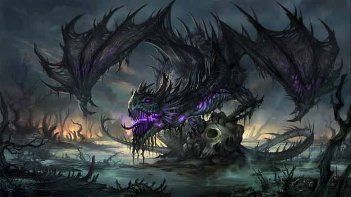 Нарисованные драконы (45 обоев)