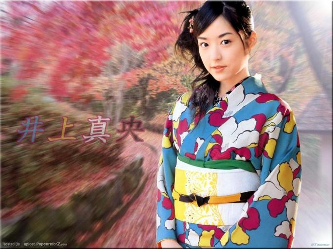 Японские актрисы. Inoue Mao (28 обоев)