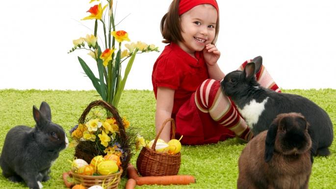 Пасха. Пасхальные игрушки, детишки и зверушки (50 обоев)