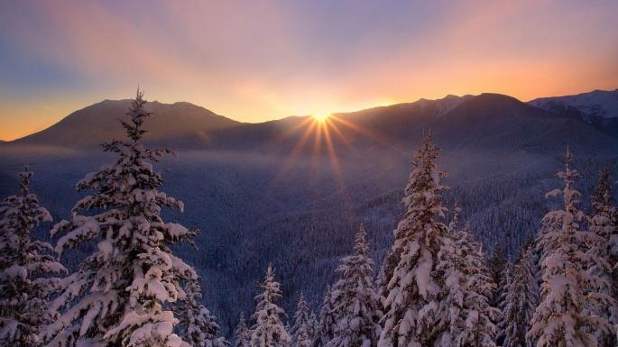 Зима (30 обоев)