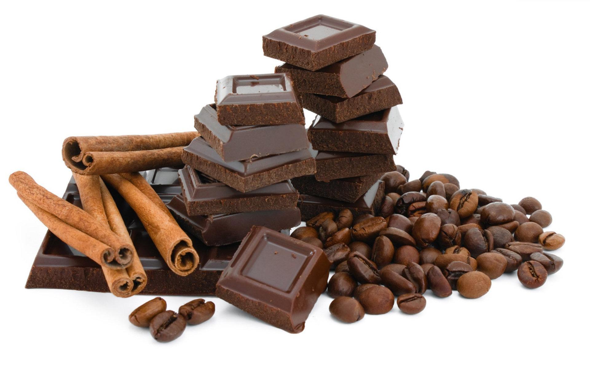 красивые картинки шоколада на белом фоне