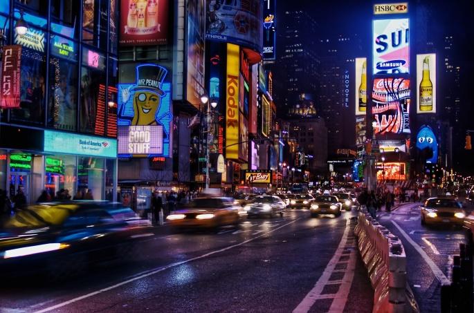 Ночной город (61 обоев)