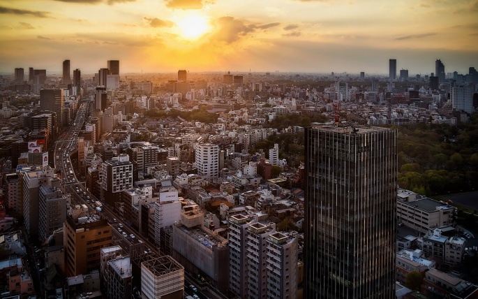 Токио. Tokyo (52 обоев)