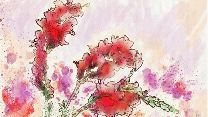 Цветочная акварель Альберто Гильена (100 обоев)