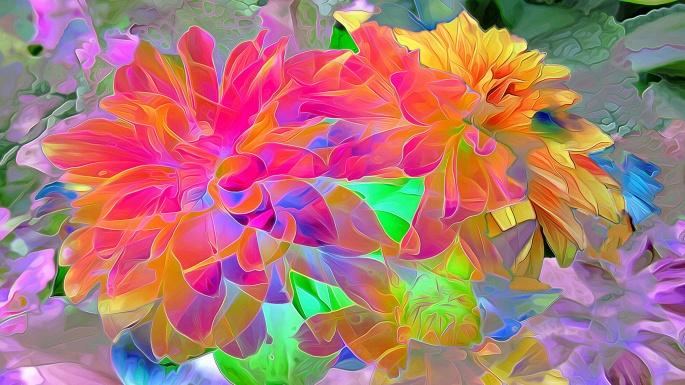 Цветочная палитра. Flower palette (100 обоев)