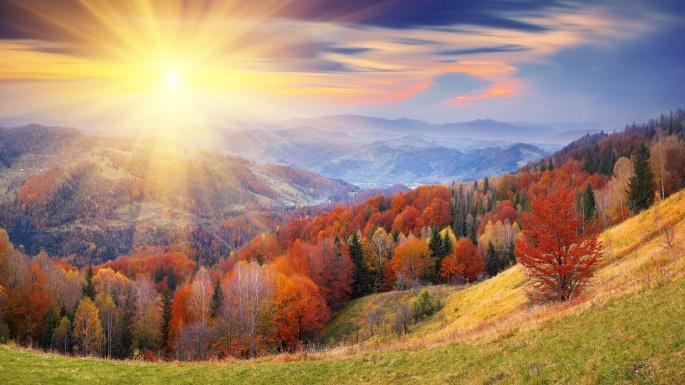 Осень (100 обоев)