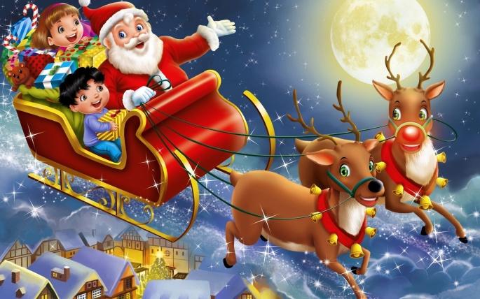 Санта-Клаус (60 обоев)