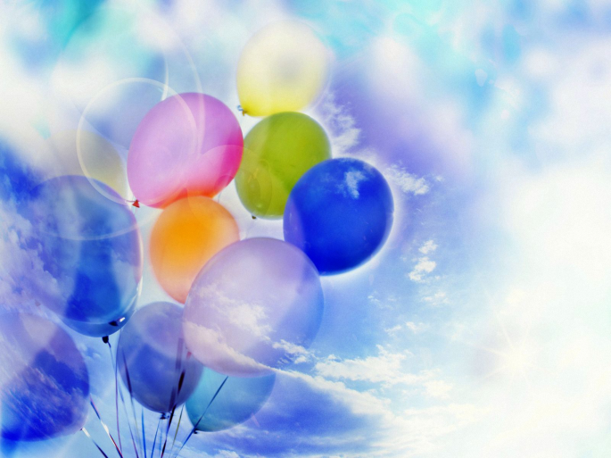 Воздушные шарики (42 обоев)