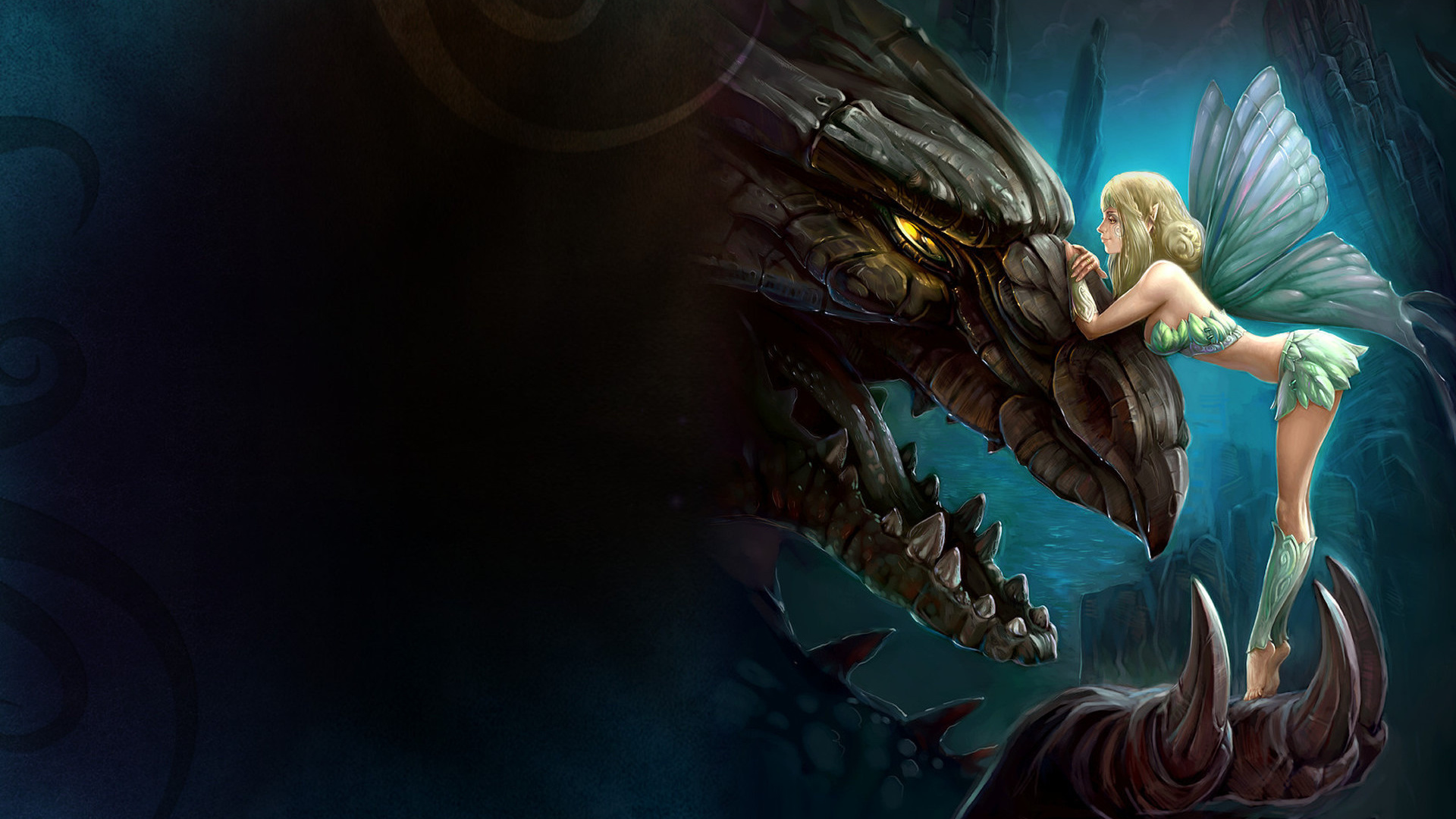 Animated dragons wallpaper