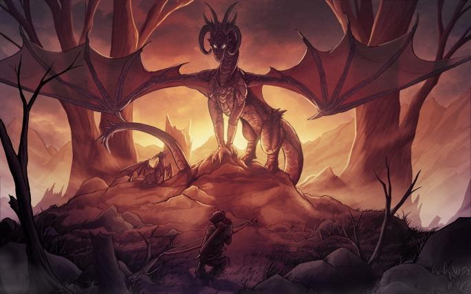 Драконы фентези (72 обоев)