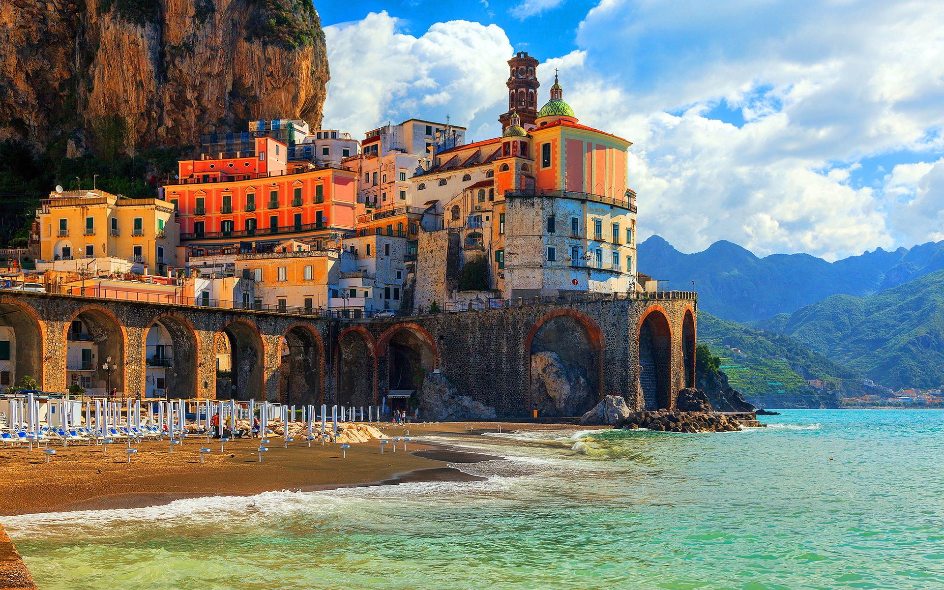 италия пляжи обои на рабочий стол № 507099 бесплатно