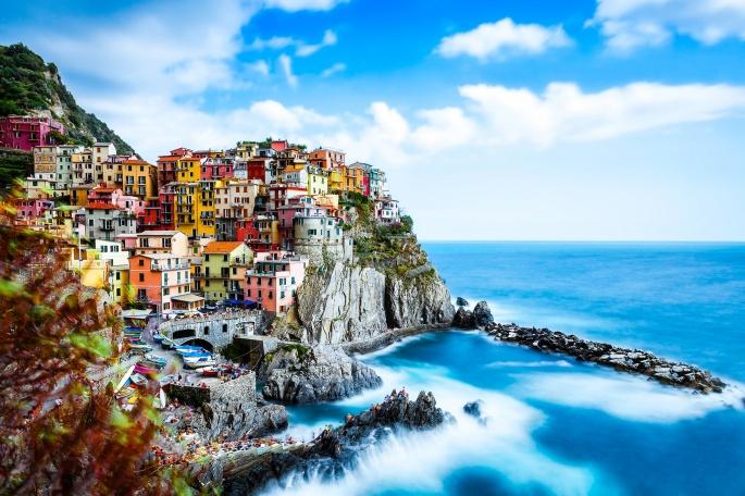 Красивый город Манарола. Италия (42 обоев)