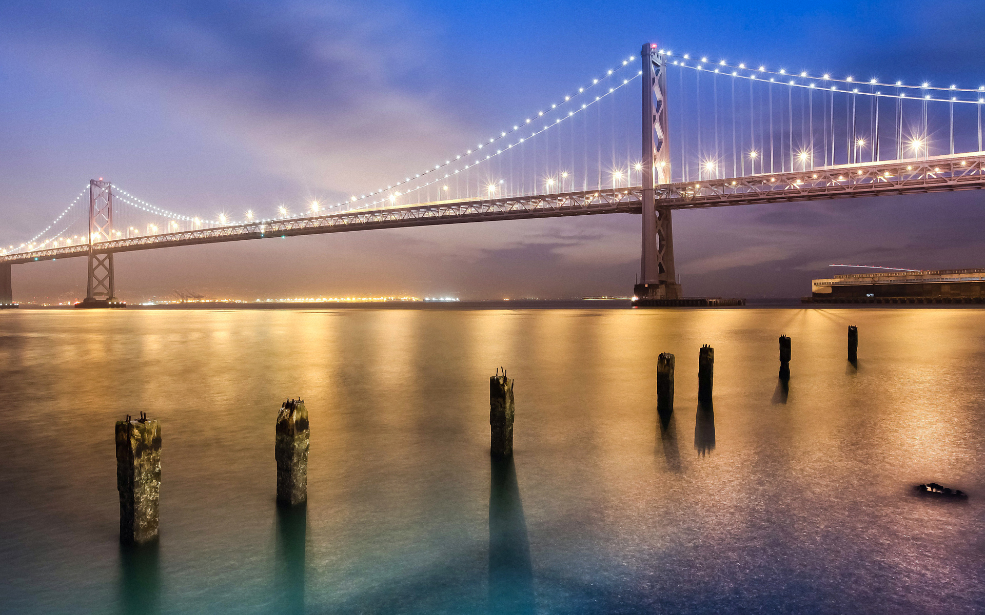 Обои калифорния, bay bridge, san francisco, california. Города