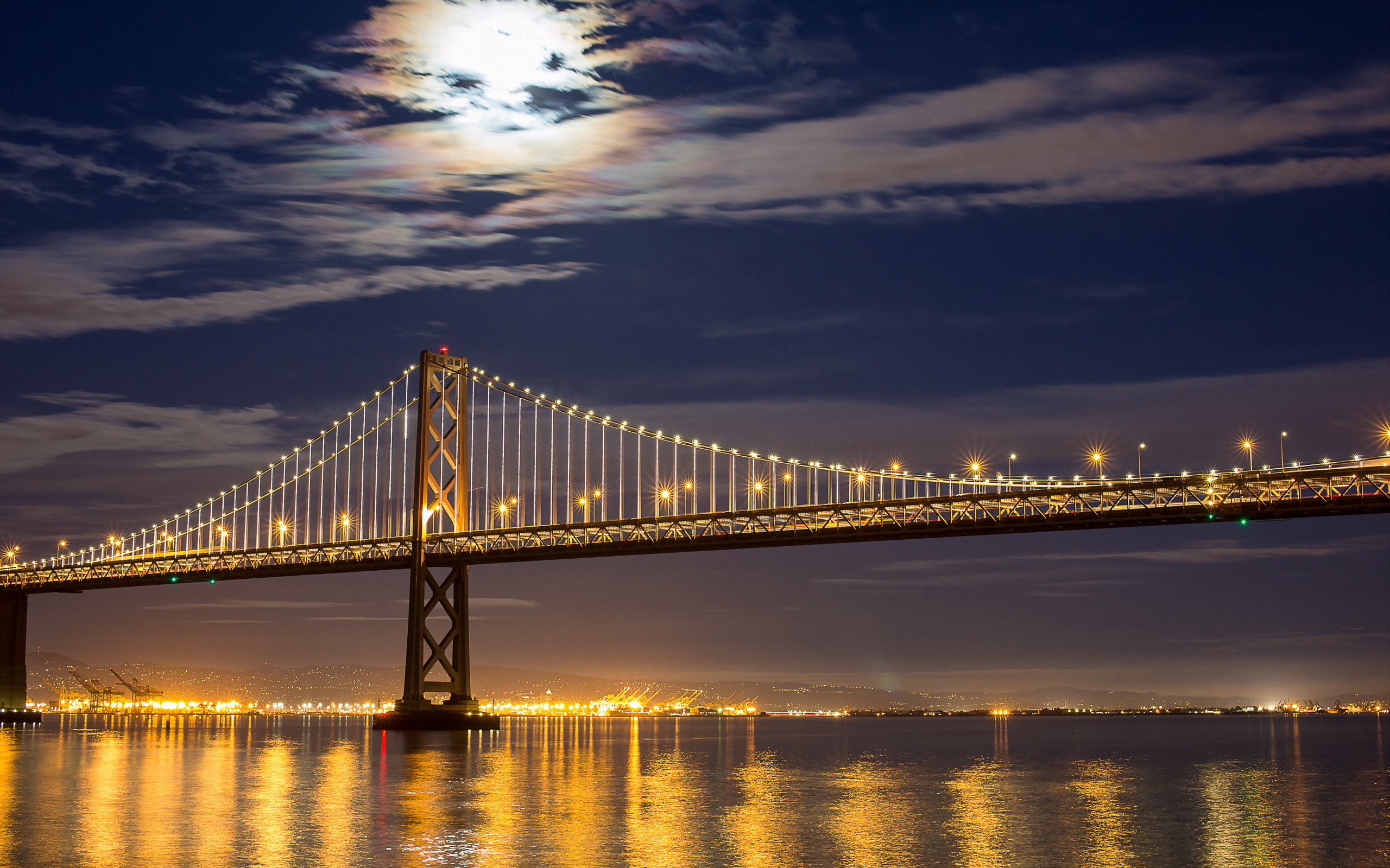 Обои калифорния, bay bridge, san francisco, california. Города foto 2
