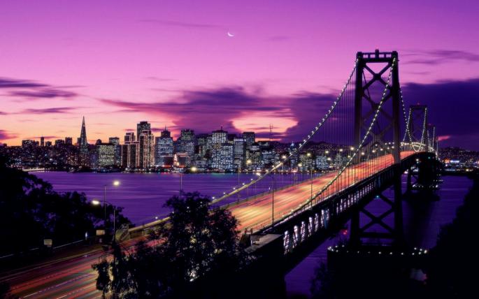 Мост между Сан-Франциско и Оклендом. Bay Bridge (42 обоев)