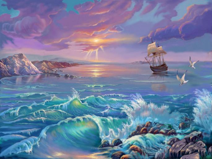 Нарисованные корабли. Ship (69 обоев)
