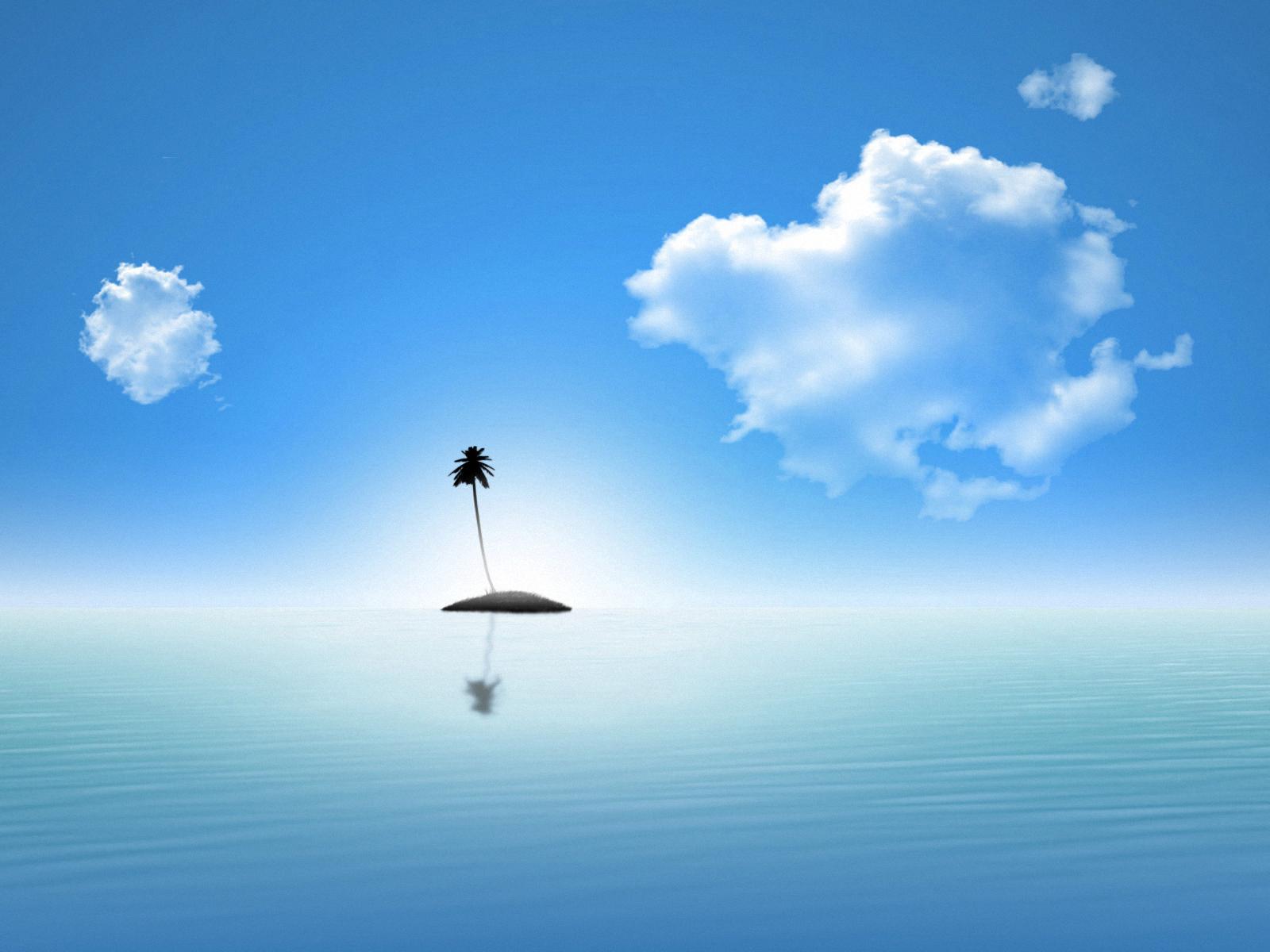 Обои Облака, остров. Природа foto 2