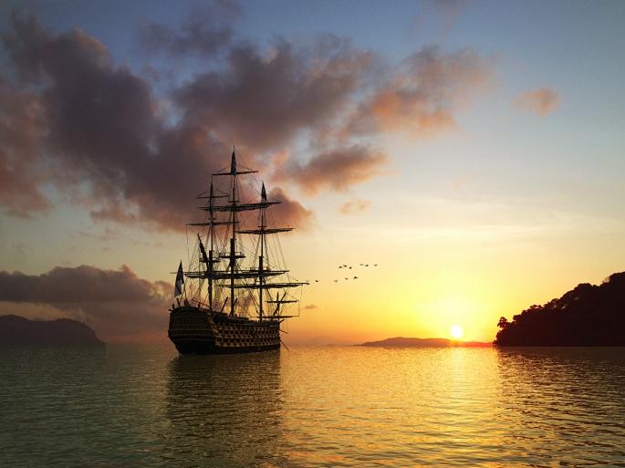 Парусные корабли (131 обоев)