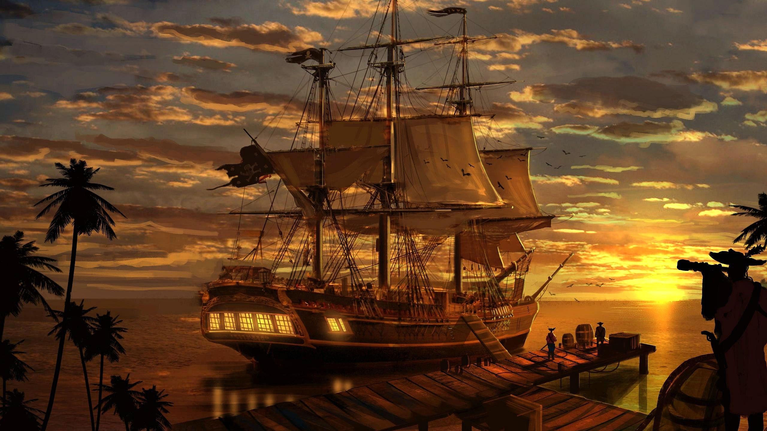 Корабль парусник обои на рабочий стол