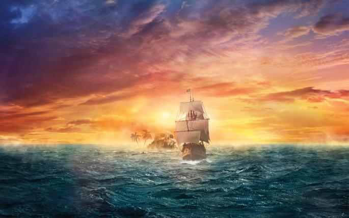 Сказочные корабли. Fabulous ships (69 обоев)