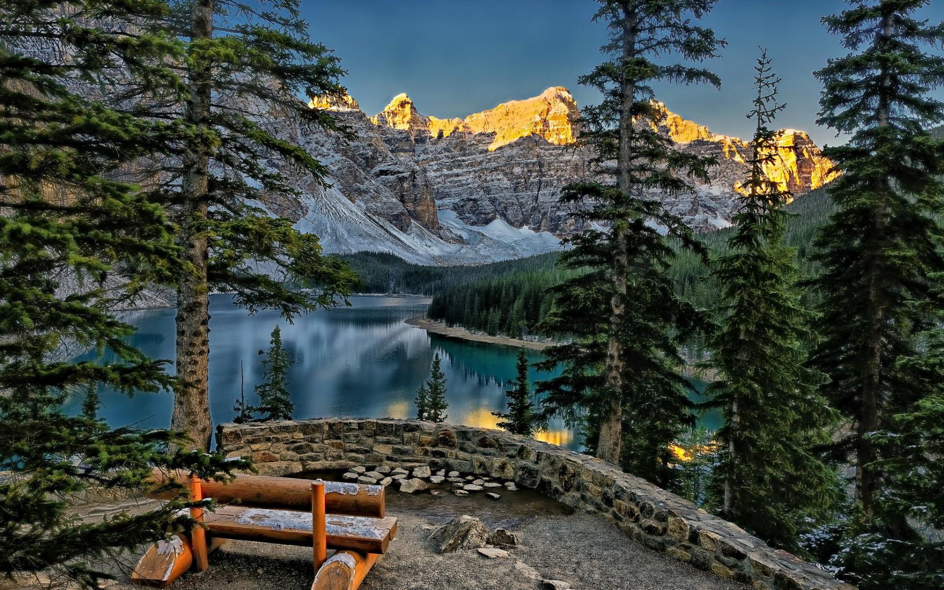 канада пейзаж обои на рабочий стол № 567375 без смс