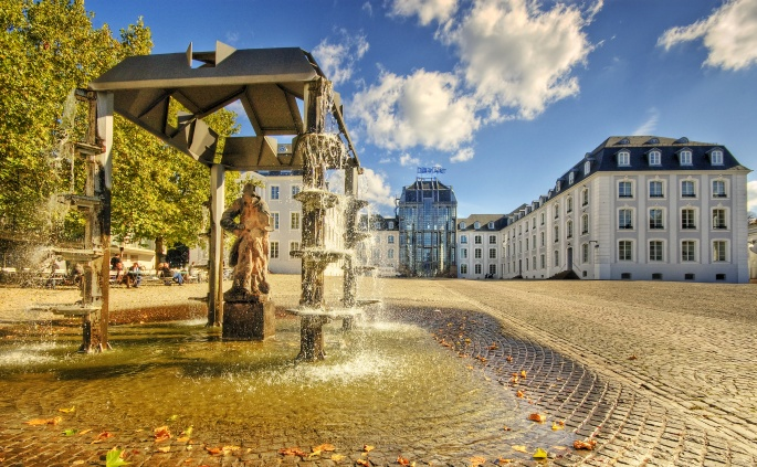 Городские фонтаны. City fountains (39 обоев)